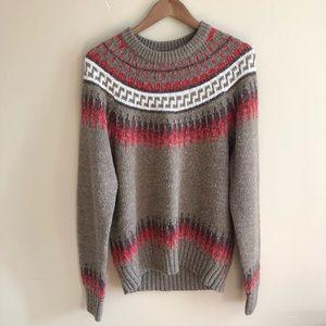 Vintage 90s Peter England Fair Isle Sweater